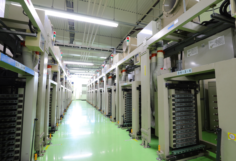 充放電エリアの設備の写真